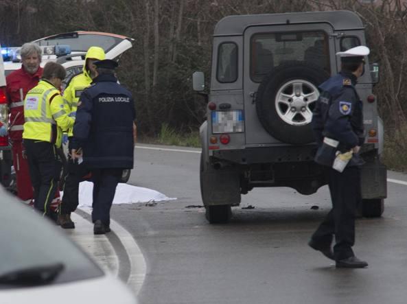 L'incidente in via Lunga, vicino alla fiera di Bergamo