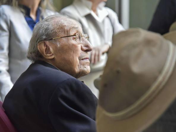 Trento Longaretti festeggiato lo scorso anno per i suoi cent'anni