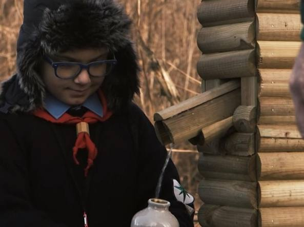 Il «lupetto» nel corto «La Fonte»