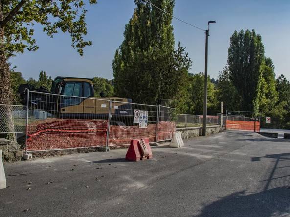 I lavori di sbancamento in via Baioni, nell'area del Campo Utili