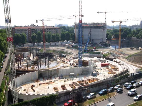 Il grande cantiere del Campus Bocconi a Milano, a cui lavora l'Impresa Percassi