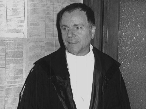 L'avvocato Claudio Zilioni, con la toga, in una foto di diversi anni fa