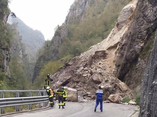 Val taleggio grave frana sulla strada degli orridi for Mercatini bergamo e provincia oggi