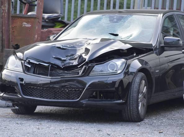La Mercedes C200 del 28enne (LaPresse/Tiziano Manzoni)