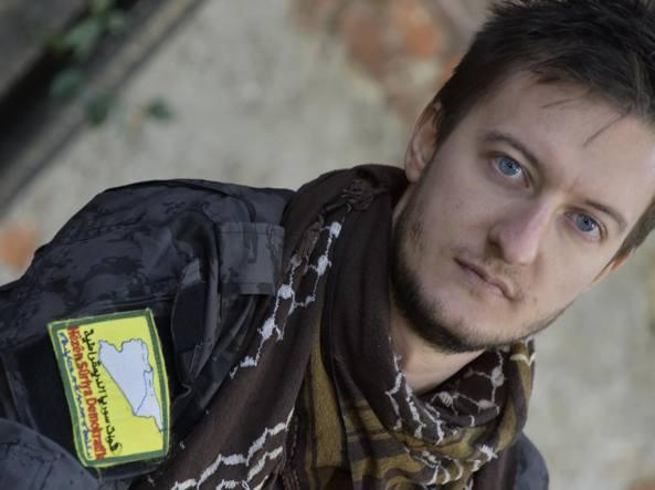 Claudio Locatelli, 30 anni, di Curno, è appena rientrato dalla Siria (LaPresse/Tiziano Manzoni)