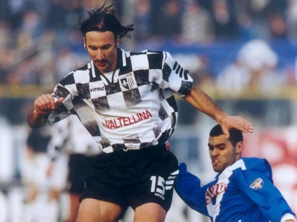 Stefano Salvatori in azione con l'Alzano
