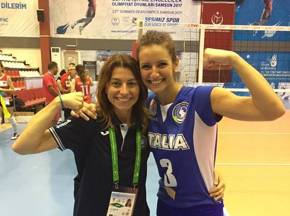 La bergamasca Ilaria Galbusera fa parte della Nazionale italiana volley non udenti