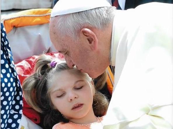 Eleonora Gavazzeni con Papa Francesco nel 2014