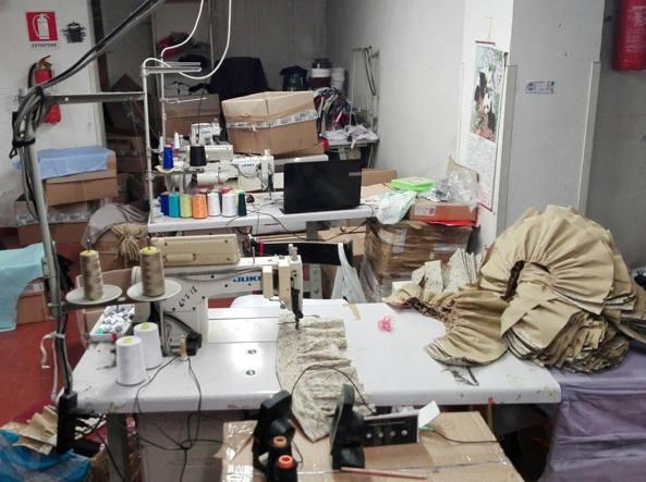 Il laboratorio abusivo
