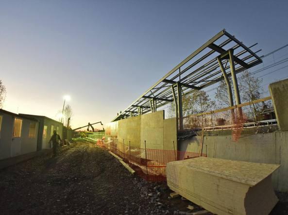 Il cantiere della nuova fermata (LaPresse/Manzoni)