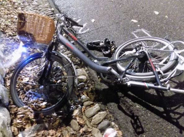 La bicicletta di Amarilli Elena Corti dopo l'incidente