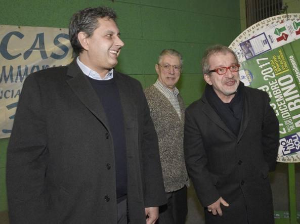 Roberto Maroni con il governatore della Liguria Giovanni Toti e Umberto Bossi