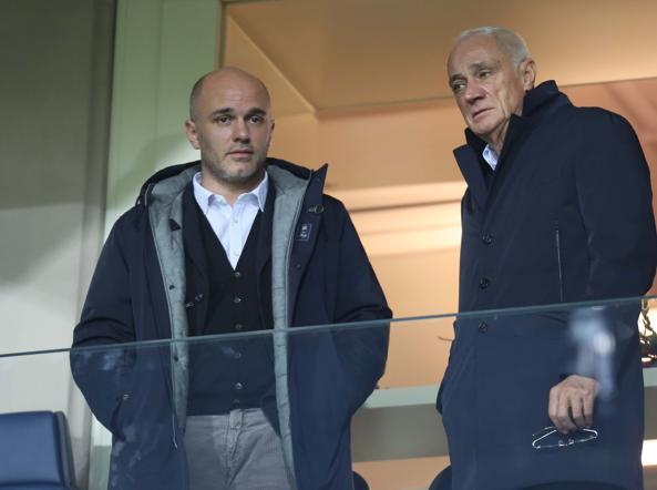 Luca Percassi e il padre Antonio