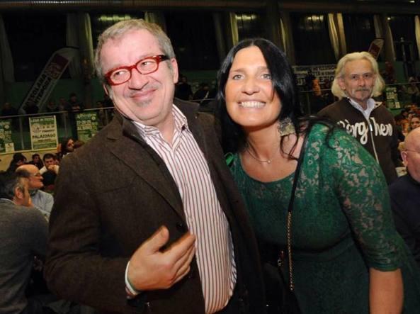 Lara Magoni con Roberto Maroni