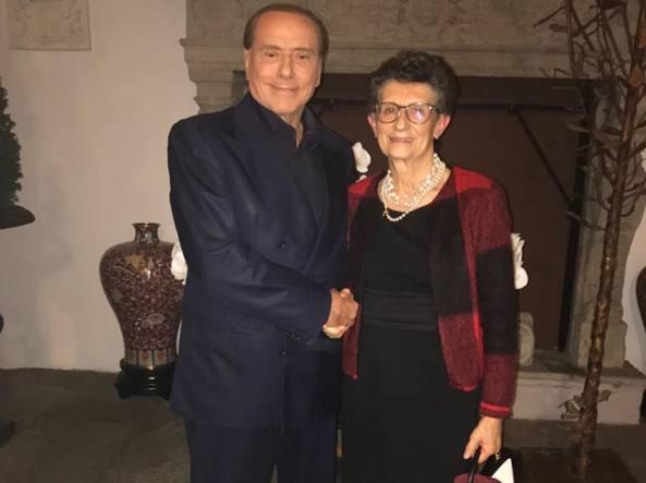 Silvio Berlusconi con Carla Bianchi