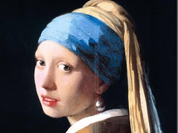 La Ragazza col Turbante (più nota come la Ragazza dall'orecchino di perla) di Johannes Vemeer nella rivisitazione di Macrì