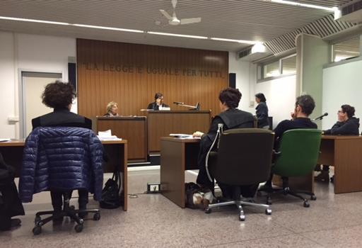 Il processo in corso in tribunale